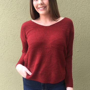 Christmas Eve Top- Red