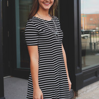 Zebra Lounge Dress - Black