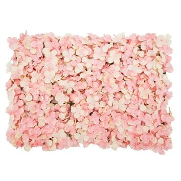 "Blush Artificial Flower Tile Mat for Flower Walls - 24"" Long x 16"" Wide"