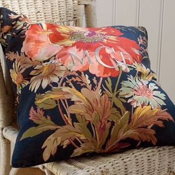 Blue Floral Pillow Cover | Pottery Barn