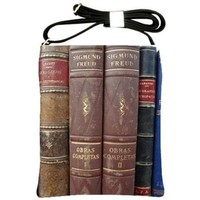 Old Leather Psychology Books Cross Body Bag Large Satchel