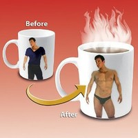 Amazon.com: Disappearing Shirt Mug: Kitchen & Dining