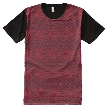 Red Animal Pattern#48a American Apparel Buy Online All-Over-Print Shirt