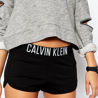 """Calvin Klein"" Women Black Lounge Shorts"