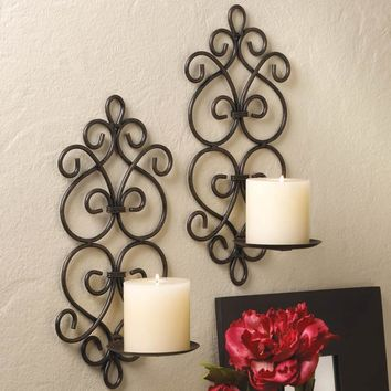 SCROLLWORK WALL SCONCES