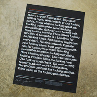 Good Fucking Design Advice Store — Black Poster