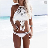 Summer Swimsuit Hot New Arrival Bohemia Handcrafts Swimwear Ladies Sexy Knit Beach Tassels Bikini [5024203652]