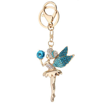 Crystal Fairy Angel Alloy Pendant Keychain