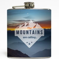 The Mountains Are Calling - Camping Flask