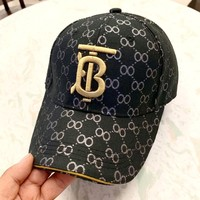 Burberry 2019 new simple wild embroidery TB letter baseball cap #3