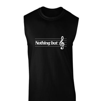 Nothing But Treble Music Pun Dark Muscle Shirt  by TooLoud