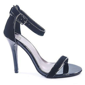 Chaney by Delicious, Heel Cover Ankle Strap Toe Strap Stiletto Dancing Shoe