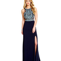 Coya Collection Beaded-Yoke Racerback Gown | Dillards