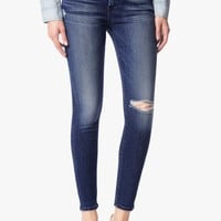 Ankle Skinny with Destroy in Lake Blue
