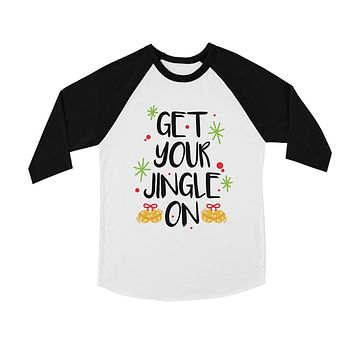Get Your Jingle On BKWT Kids Baseball Shirt