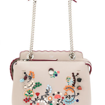 Fendi Embroidered Dotcom Shoulder Bag - Farfetch