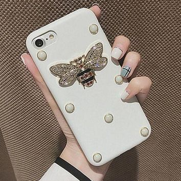 Pearl bee iPhone Phone Cover Case For iphone 6 6s 6sp 7 7plus-1