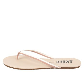 TKEES Duos Flip Flops - Bare White