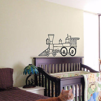 KIDS WALL ART STICKER BABY ROOM NURSERY BOY GIRL BEDROOM TRAIN LIONEL 28