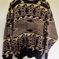 Purple Tribal oversized sweater.