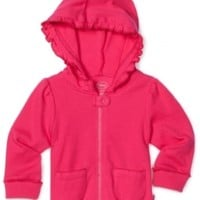 Disney Baby-Girls Newborn Hooded Jacket, Fuschia, 0-3 Months