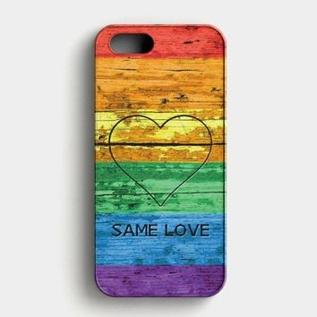 Lgbt Same Love Rainbow Flag iPhone SE Case