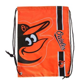 Baltimore Orioles MLB  Drawstring BackPack - SackPack ~ NEW!
