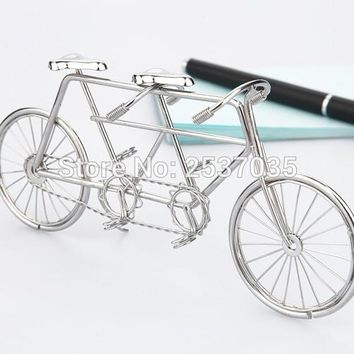 J1 TANDEM BIKE/BICYCLE SCULPTURE/DECORATION HOT SALE STAINLESS HAND-MADE ART CRAFTS WEDDING&BIRTHDAY&HOME&OFFICE&GIFT&PRESENT
