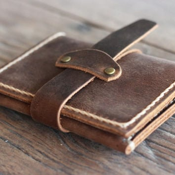 Treasure Chest Bifold Wallet -- A Leather Wallet Full of Treasure -- 034