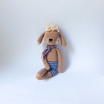 Soft baby toy Toddler toy Plushie toy Crochet dog Soft toy Crochet animal