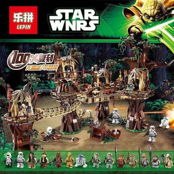 Star Wars Force Episode 1 2 3 4 5 DHL Lepin 05047  Toys  Compatible Legoing 10236 Ewok Village  Set Building Block Bricks Kids Toys Christmas Gifts AT_72_6