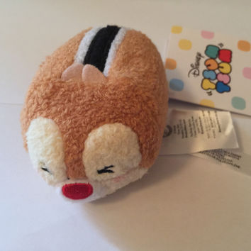 """disney store usa winking dale new expression tsum 3 1/2"""" plush new with tags"""