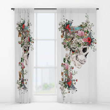 Skull Queen Window Curtains by RIZA PEKER