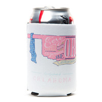 Oklahoma Be OK Can Holder in White by Lauren James