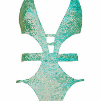 Sirena Sequin One Piece - Mint