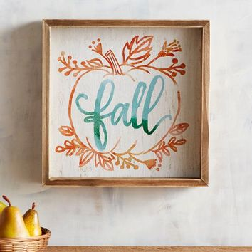 Turquoise Fall Wall Decor