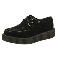 Black Suede Viva Creeper Sneakers
