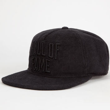 Hall Of Fame City Mens Strapback Hat Black One Size For Men 25682110001