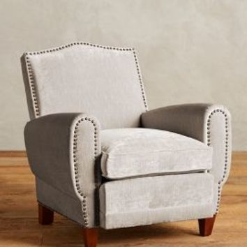Slub Velvet Nailhead Clairmont Chair by Anthropologie