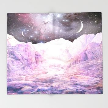 Misty Mountains Throw Blanket by Starseed Designs