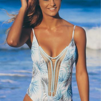 Strappy Crochet One Piece Palm