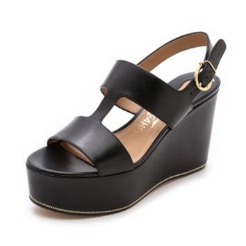 Salvatore Ferragamo Fiamma Wedge Sandals