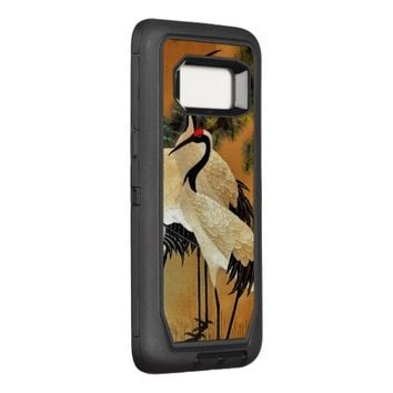 Japanese Crane Cloisonné-look OtterBox Defender Samsung Galaxy S8 Case