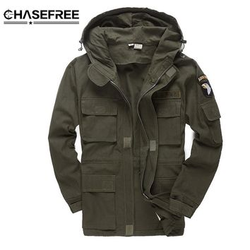 Trendy Men Military Style Tactical Jackets For Men Pilot Coat US Army 101 Air Force Bomber Jacket Coat AT_94_13