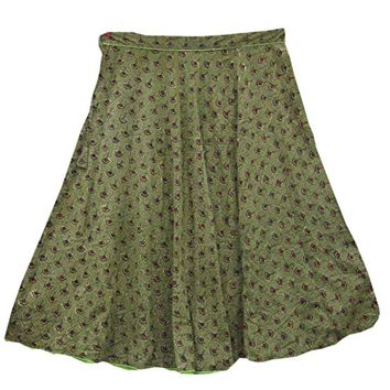 Womens Boho Skirt Green Printed Skirts Gypsy Bohemian Medieval Maxi Skirt L: Amazon.ca: Clothing & Accessories