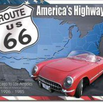 Tin Sign : Route 66: 1926 - 1985