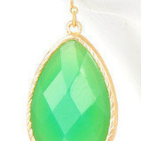 Two Tone Green Jewel Drop Earrings – Modeets