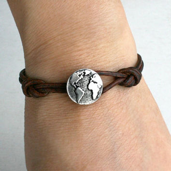 Shop World Map Bracelet On Wanelo