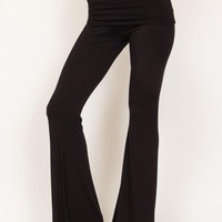 Saint Grace || Ashby fold over flare pants in black