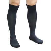 Athletic Over the Calf Compression Crew Socks for Mens and Boys - Black/Red/White